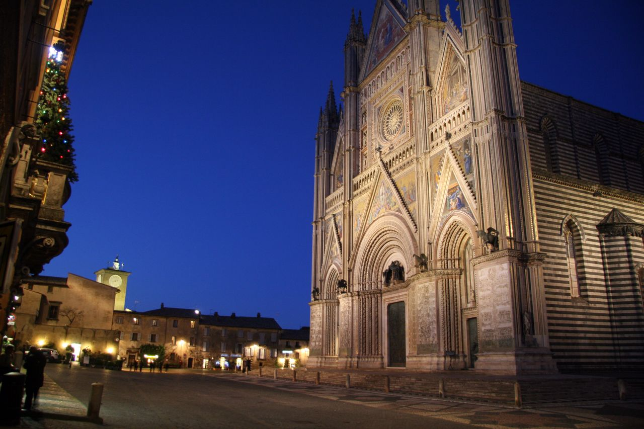 Orvieto Cathedral, Orvieto, Terni, Italy. And example of Gothic architecture, Romanesque architecture, Italian Gothic architecture.
